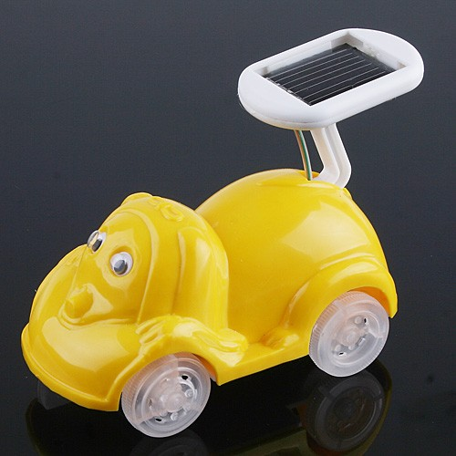 solar powered mini cartoon car for sale us tomtop. Black Bedroom Furniture Sets. Home Design Ideas