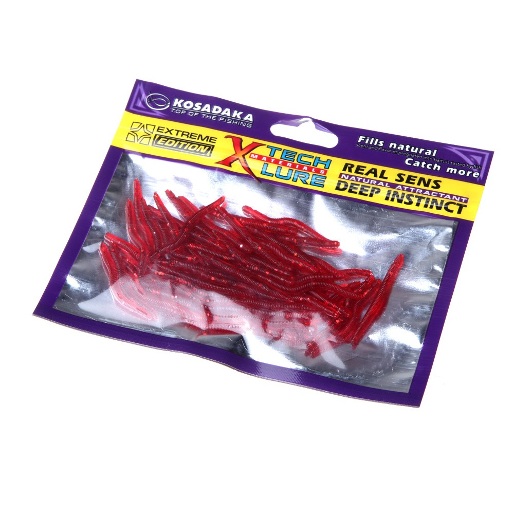 Lixada 50pcs simulation earthworm worms artificial for Worms for fishing bait