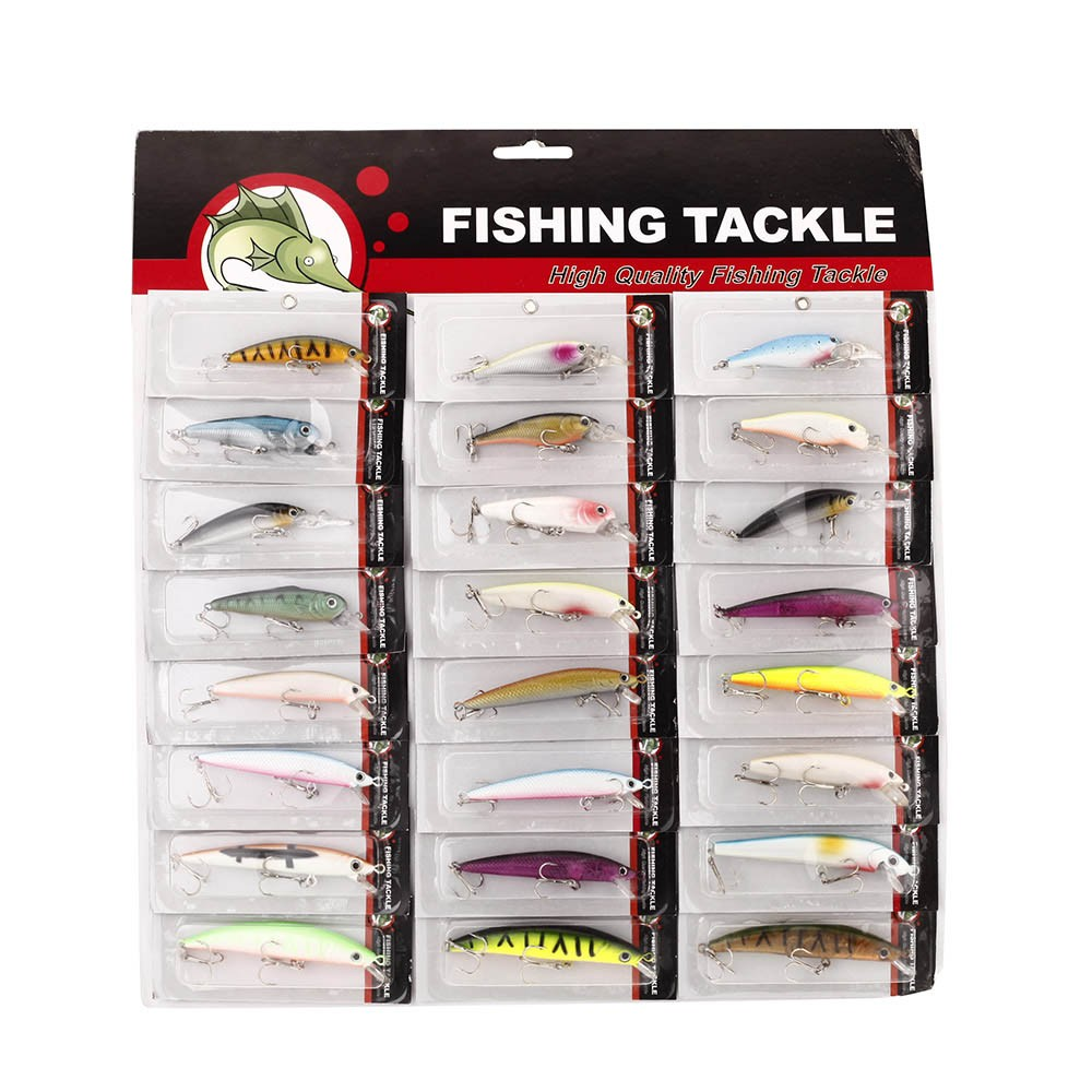 24pcs fishing lure mixed color size weight metal hook for Fishing tackle online
