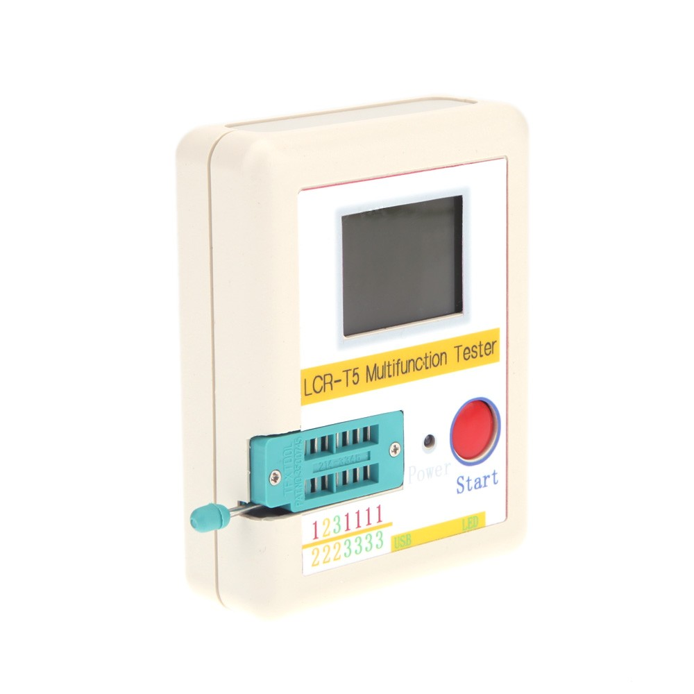 Transistor Tester White Lcd Backlight Diode Triode Capacitance Esr Thyristor Meter Mos Triac Case Li Ion Battery Sales Online Tomtop