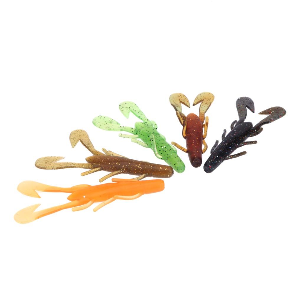 lixada 5pcs 9cm 7g p che artificiels lure bionic crevettes grosses doux app ts p che r aliste. Black Bedroom Furniture Sets. Home Design Ideas