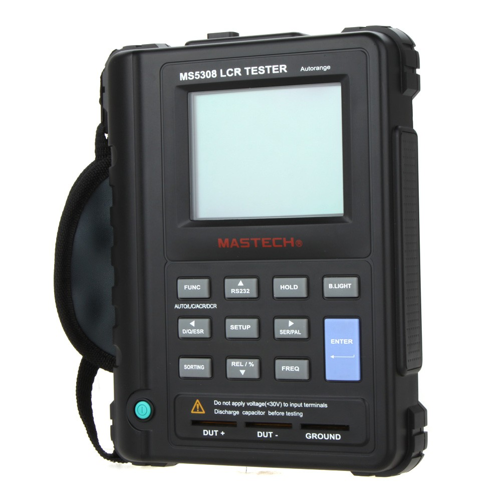 Mastech Ms5308 100khz Auto Ranging Digital Lcr Meter W Serial Electric Bridge Resistance Capacitance Inductance Esr Parallel Test Mode