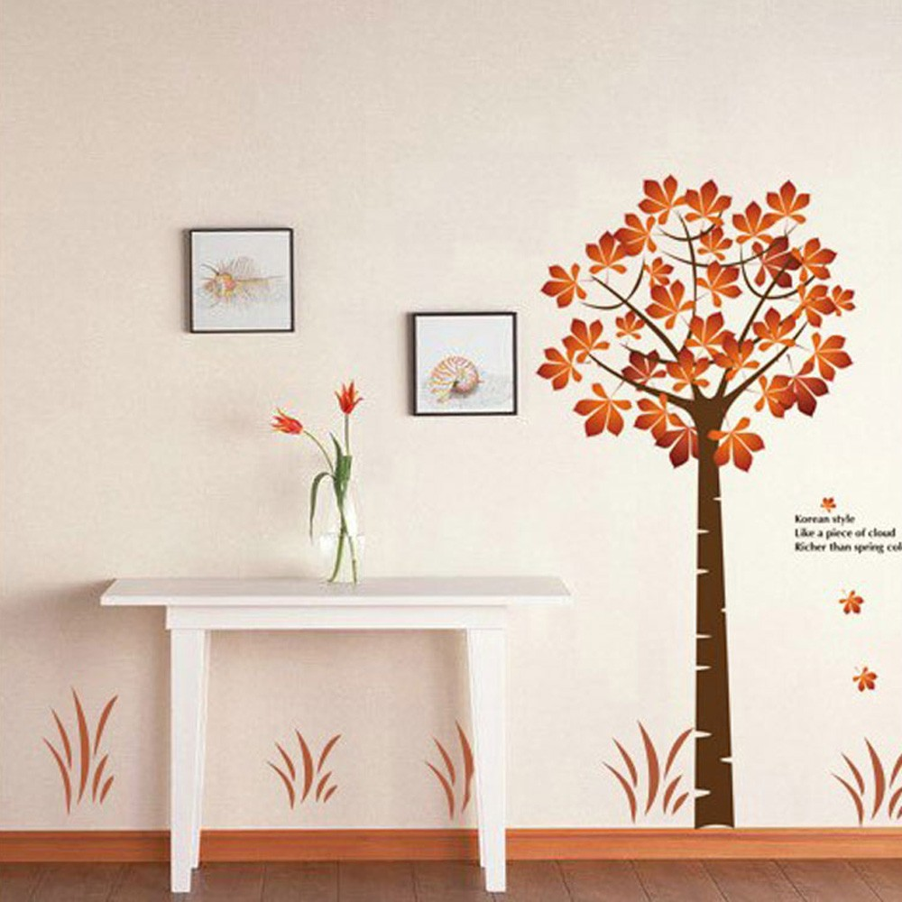 Beautiful Maple 2pcs Wall Stickers Art Decals Mural DIY Wallpaper for Room Decal 60 * 90cm