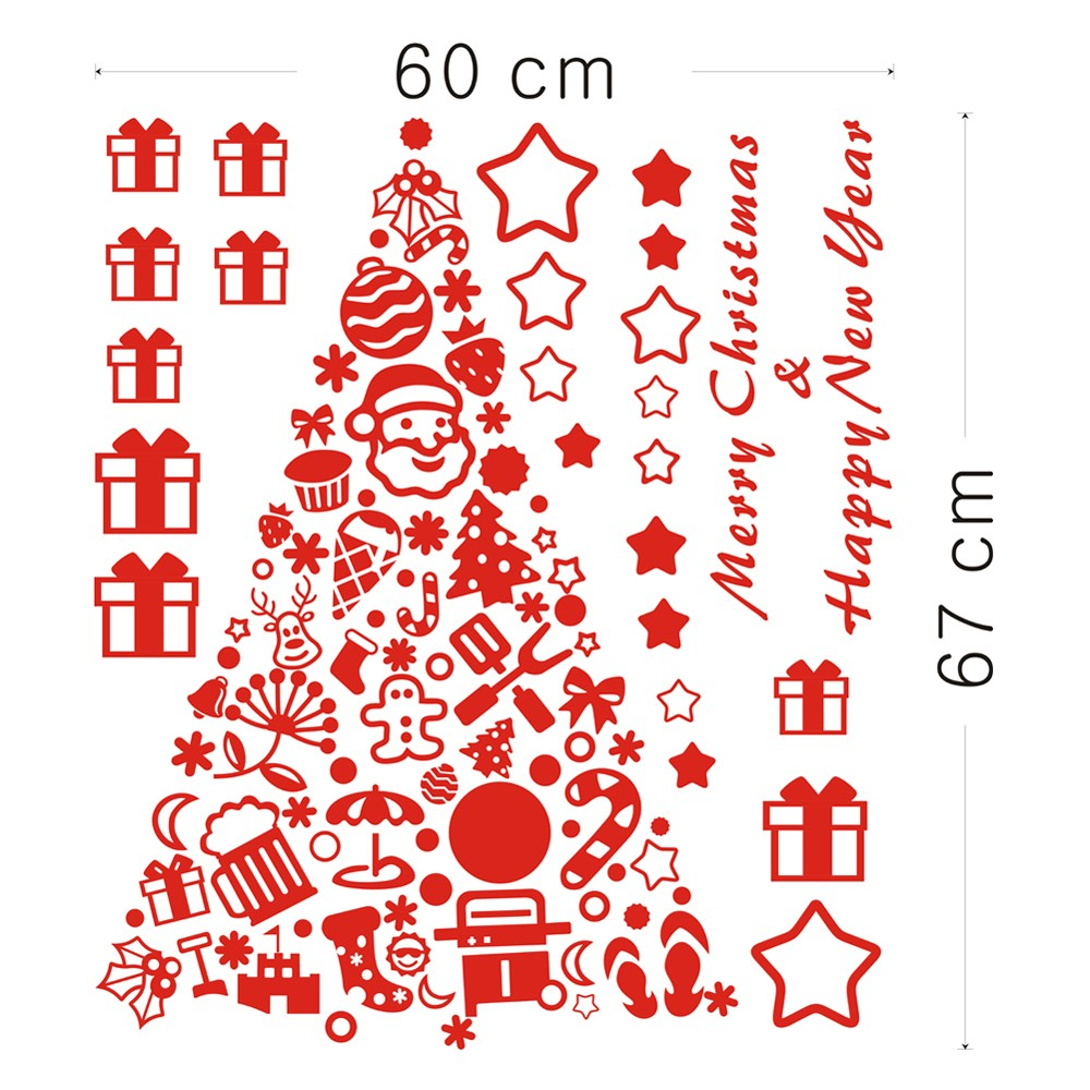 Merry christmas removable wall stickers art decals mural diy sales merry christmas removable wall stickers art decals mural diy sales online tomtop amipublicfo Gallery