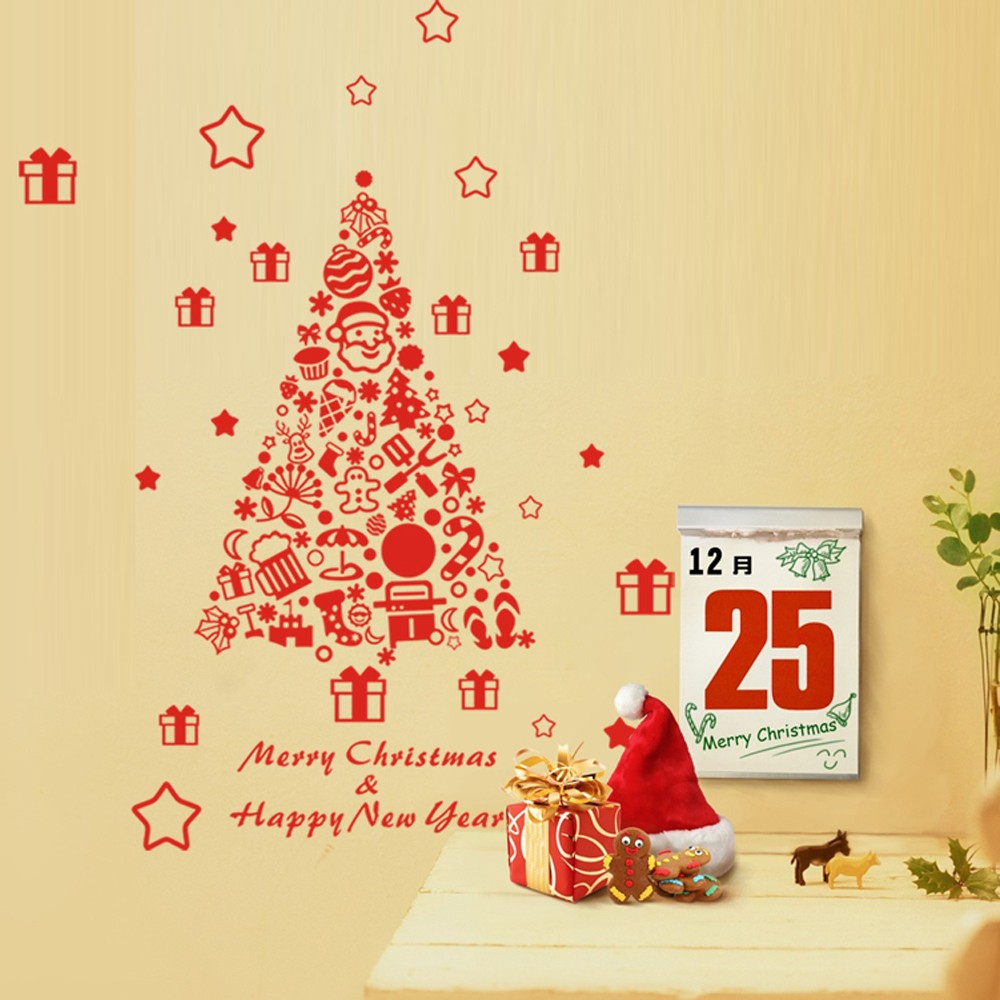 Merry Christmas Removable Wall Stickers Art Decals Mural ...