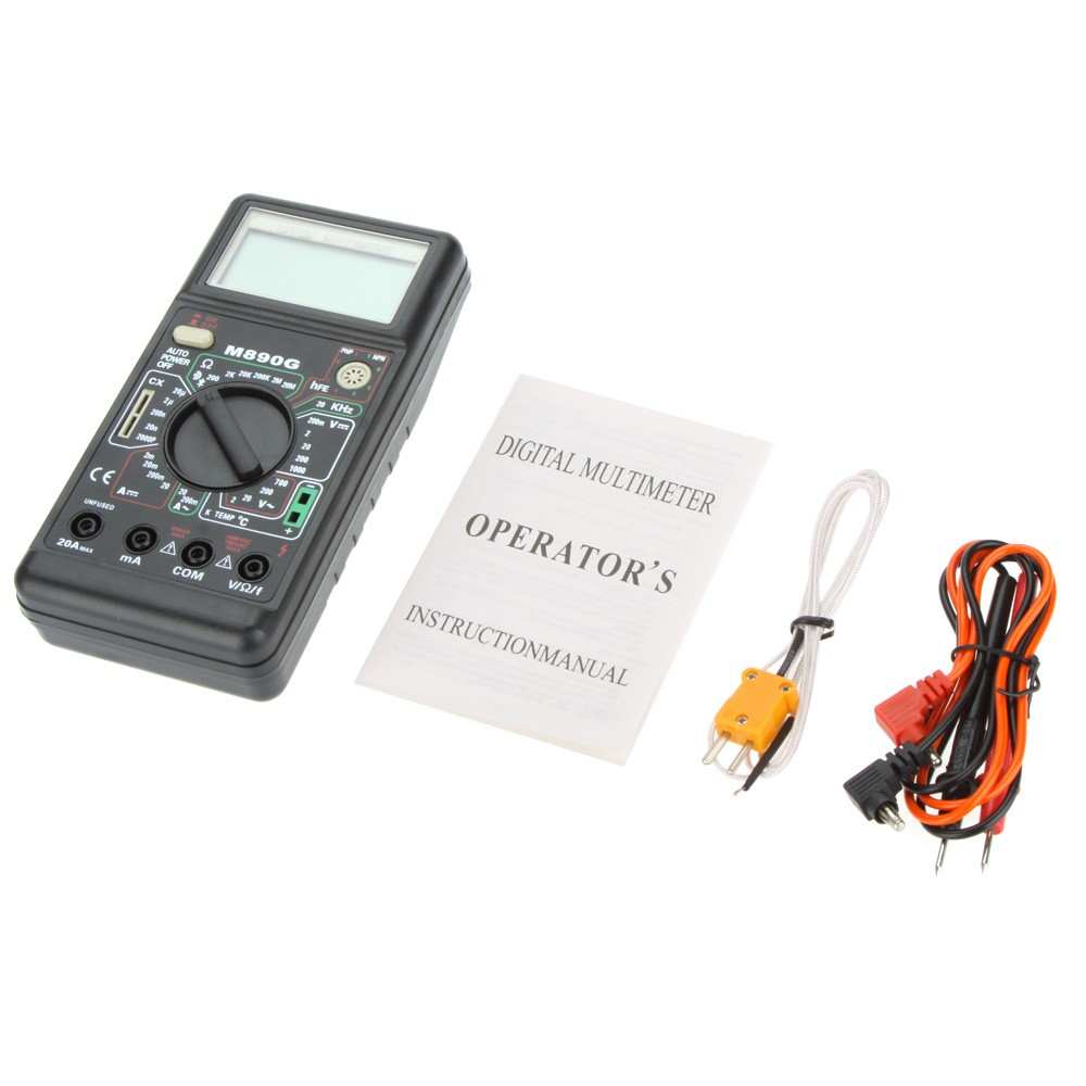 M890g Digital Multimeter Dmm Temperature Meter Ac Dc Volt Amp Ohm Lcr Bridge Patch Clamp Measure Smd Universal Clip Multipurpose Test W Frequency Capacitance Hfe Sales Online Tomtop