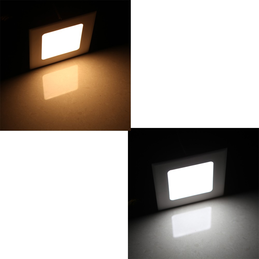 4w Square Led Recessed Ceiling Panel Light Down Lamp Ultra Thin Fluorescent Driver Bright For Living Room Bathroom Bedroom Kitchen Ac85 265v Sales Online Cold White