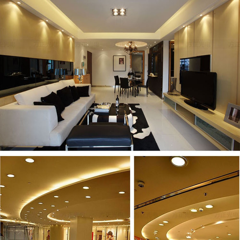 9W Square LED Recessed Ceiling Panel Light Down Lamp Ultra Thin ...