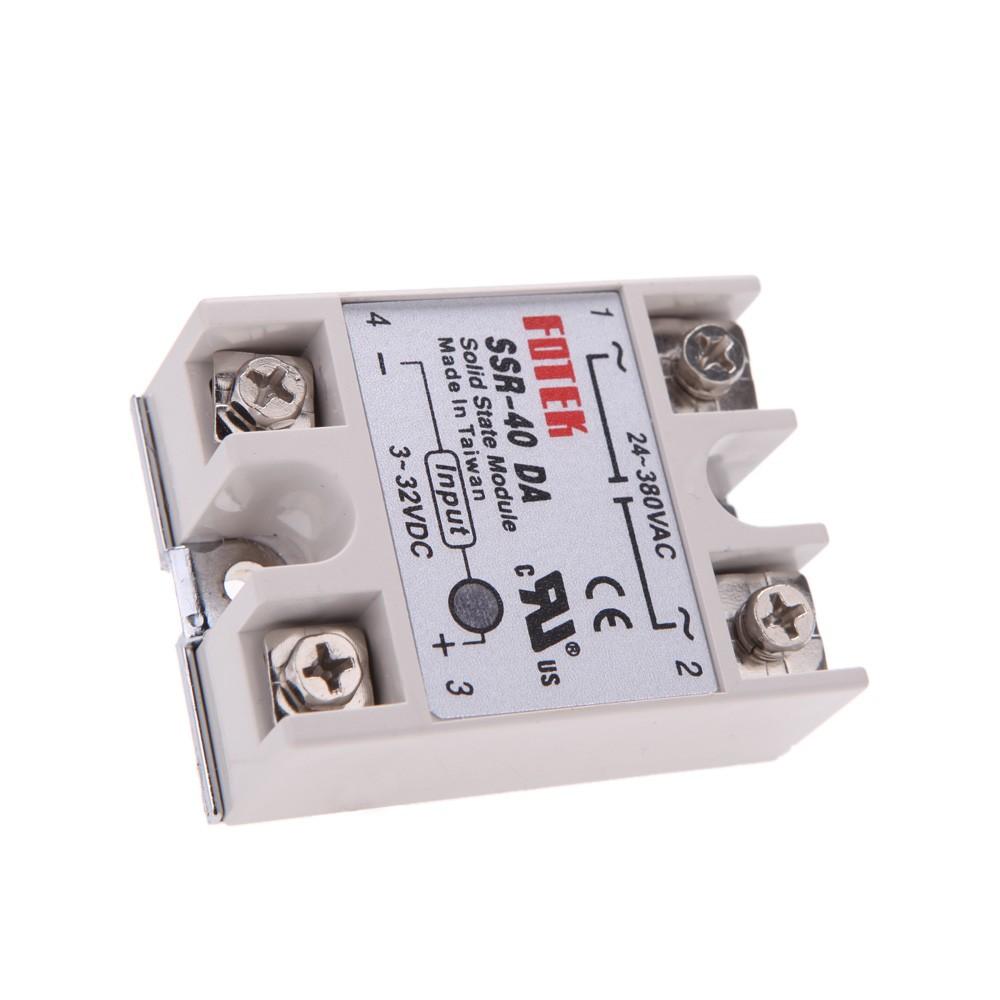 24v 380v 40a Ssr 40 Da Solid State Relay Module For Pid Temperature Finder Controller 3 32v Dc To Ac Sales Online Tomtop