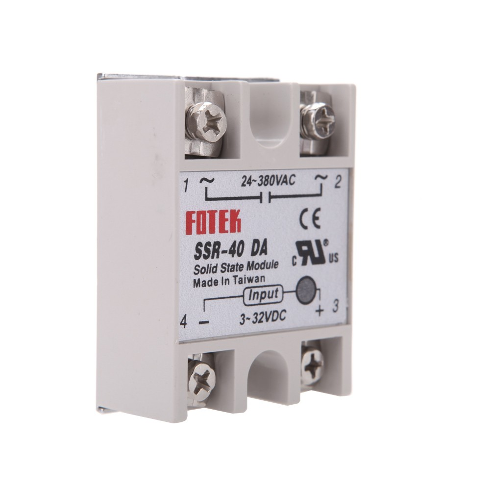 24v 380v 40a Ssr 40 Da Solid State Relay Module For Pid Temperature Control Controller 3 32v Dc To Ac Sales Online Tomtop