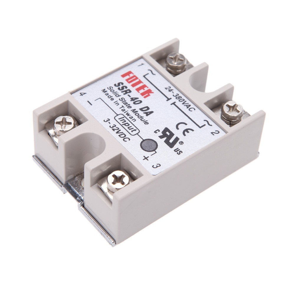 24v 380v 40a Ssr 40 Da Solid State Relay Module For Pid Temperature Taiwan Controller 3 32v Dc To Ac