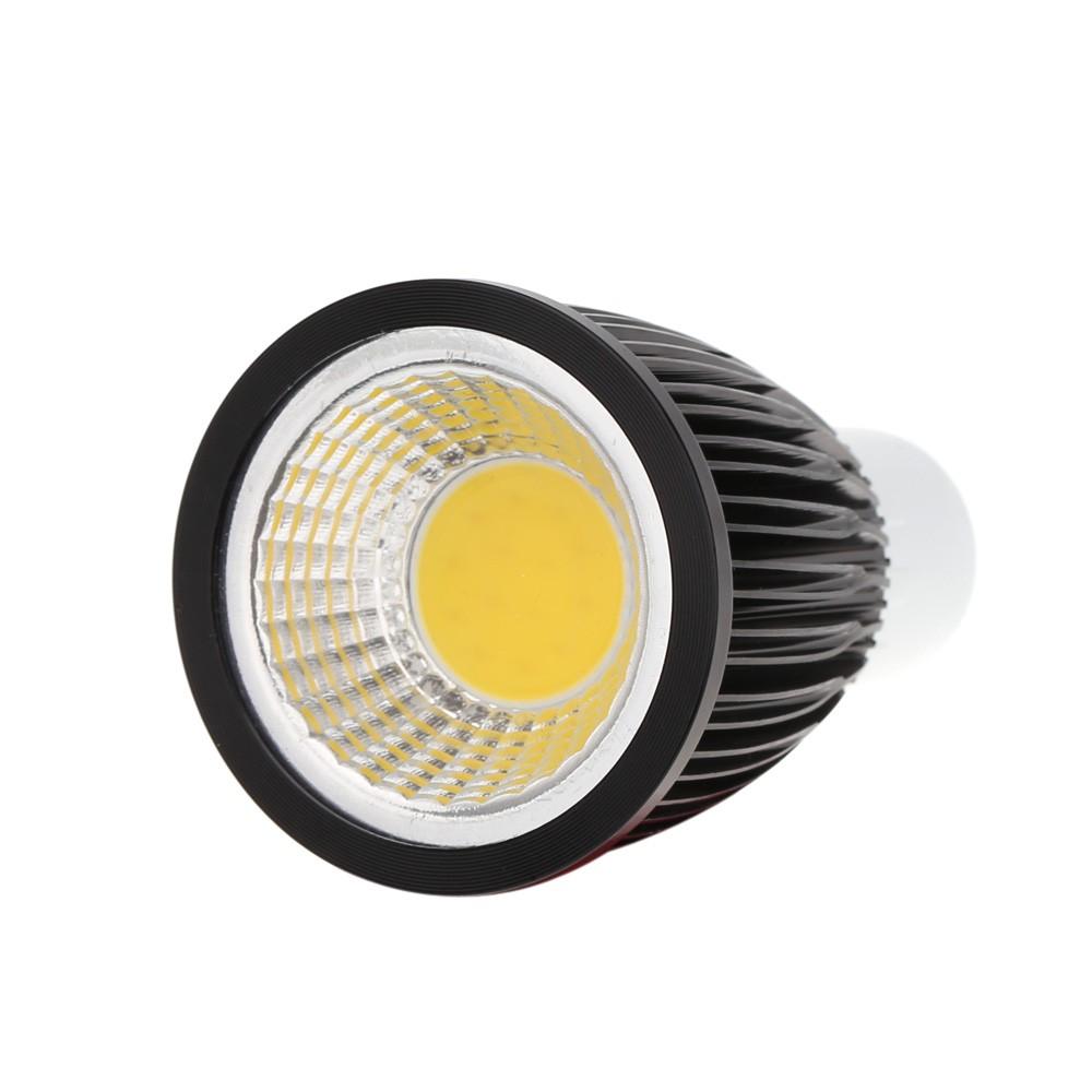 gu10 7w cob led scheinwerfer birnen lampe energieeinsparung high brightness warmwei schwarz 85. Black Bedroom Furniture Sets. Home Design Ideas
