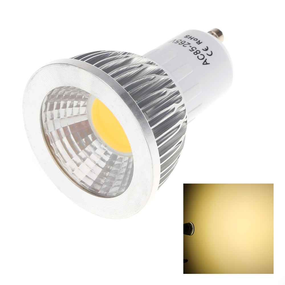 gu10 5w cob led spot light lamp bulb high power energy. Black Bedroom Furniture Sets. Home Design Ideas