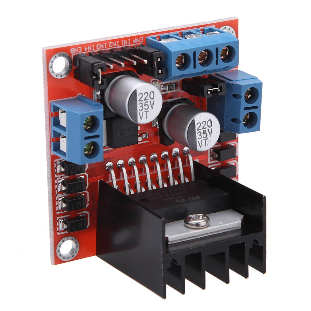 Dc 5v L298n Stepper Motor Drive Controller Board Module Dual H Driver Circuit Bridge For Arduino Smart Car Robot