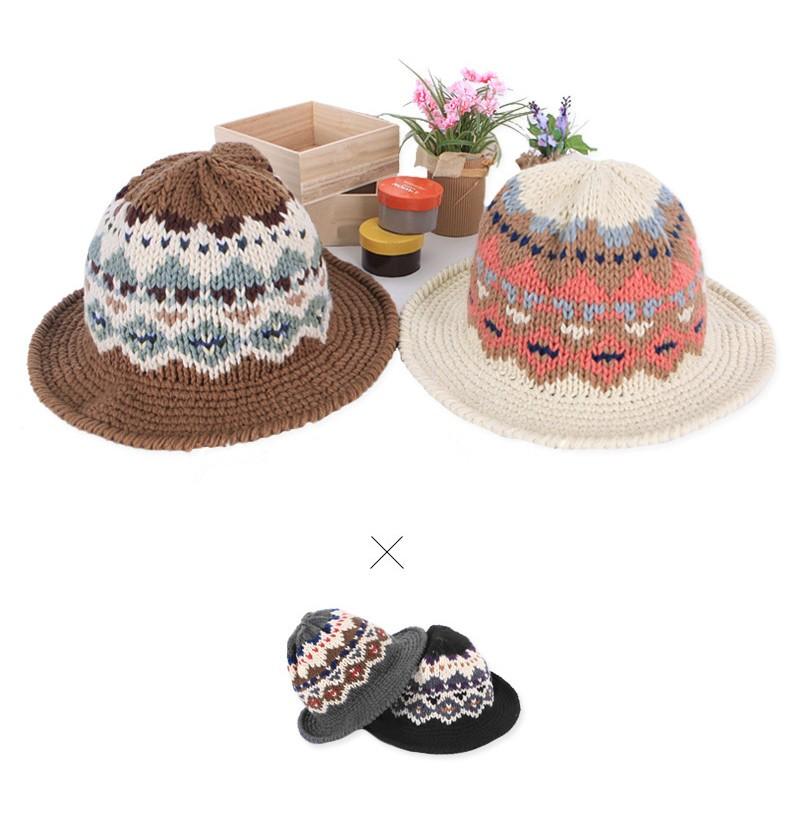 Nueva moda mujer cubo sombrero del telar jacquar del patrón del ...