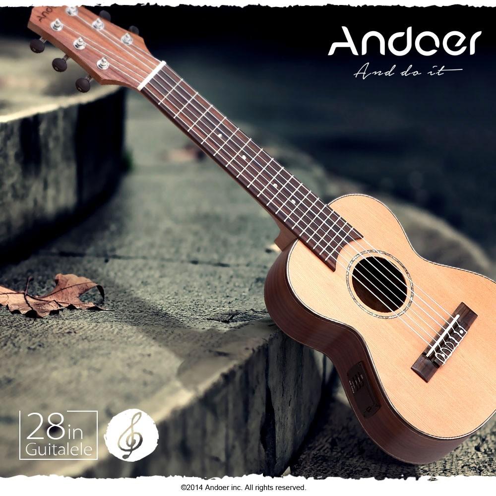 andoer 28 guitalele guitarlele guilele travel guitar solid cedar rosewood fretboard bridge. Black Bedroom Furniture Sets. Home Design Ideas