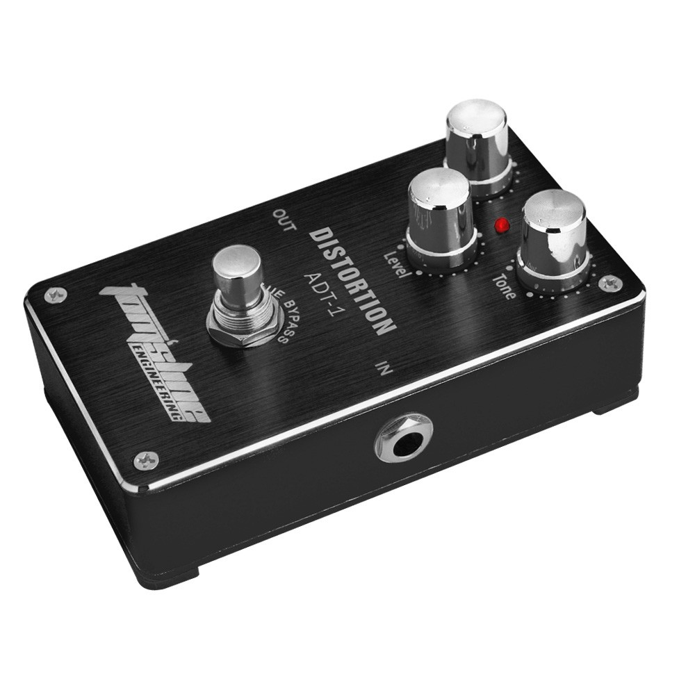 aroma adt 1 distortion electric guitar effect pedal aluminum alloy housing true bypass for sale. Black Bedroom Furniture Sets. Home Design Ideas