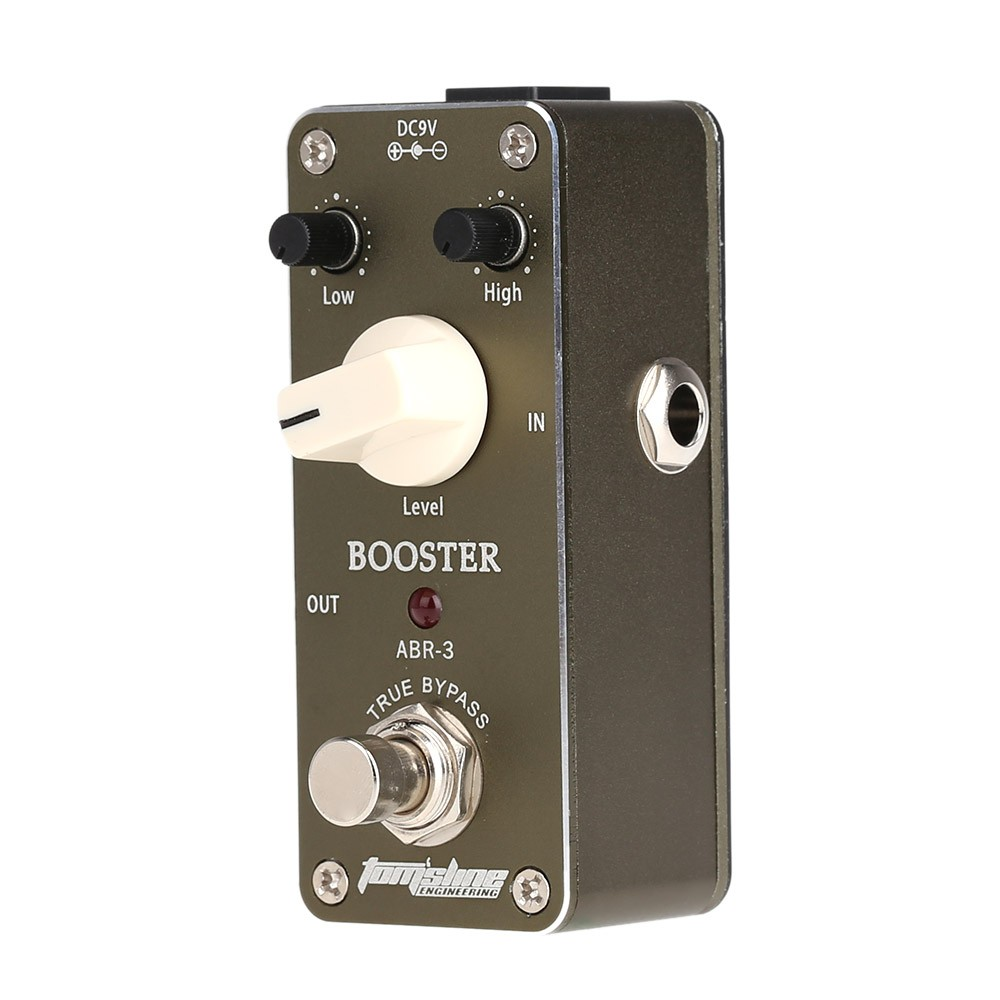 aroma abr 3 mini booster electric guitar effect pedal with fastener tape aluminum alloy housing. Black Bedroom Furniture Sets. Home Design Ideas