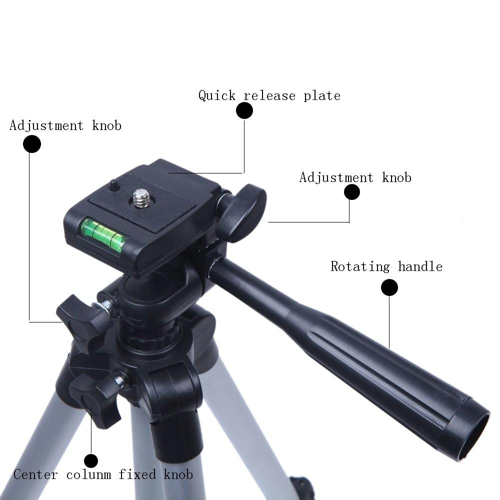 3110A Pro Camera Tripod Lightweight Flexible Portable Three-way Head for Sony Canon Nikon