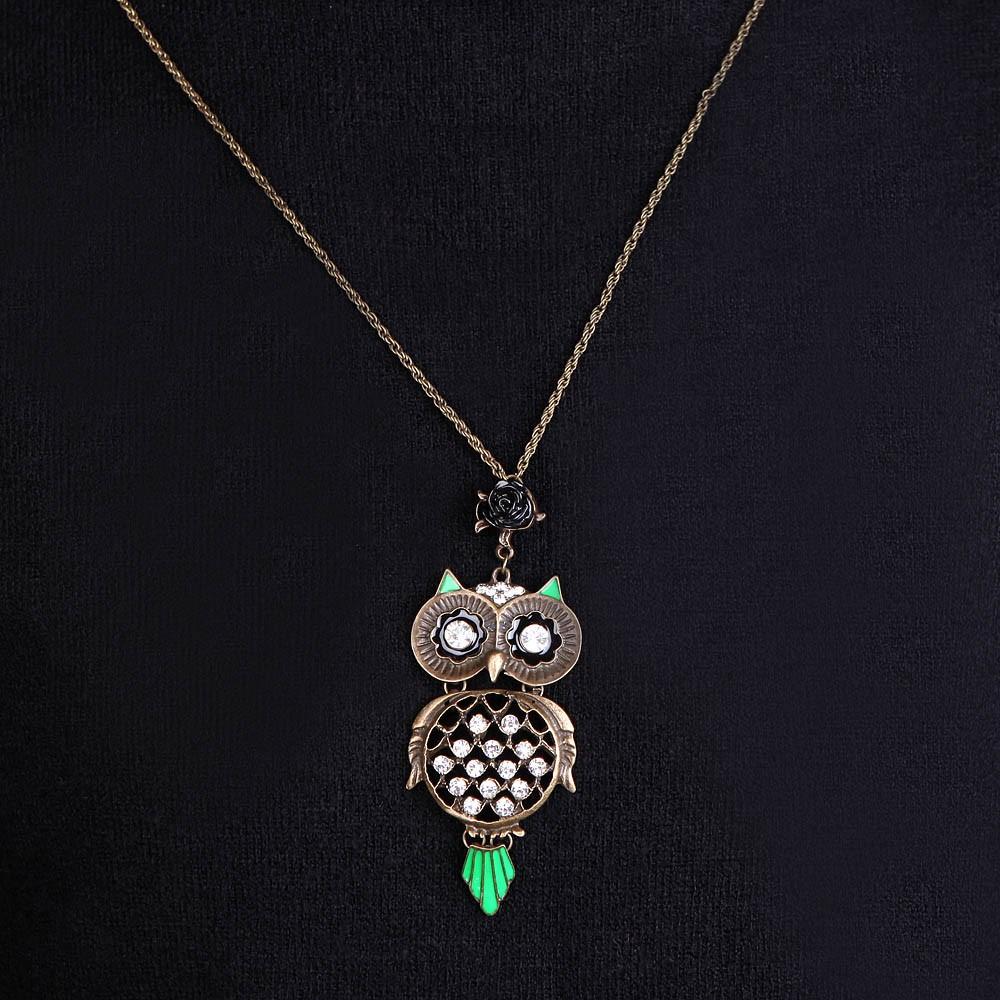 Classique personnalis vintage r tro strass punk owl - Accessoire retro ...