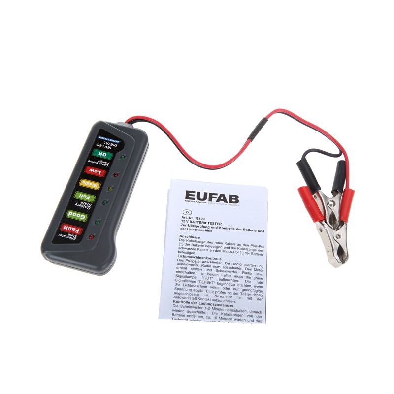 Electronic Tester Showing Failure Lights : Tirol v digital battery alternator tester with led