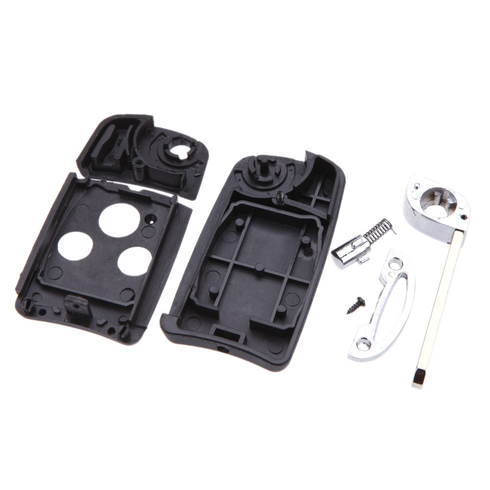 Folding Remote Key Case Cover For Honda Accord Fit Flip 3 Buttons