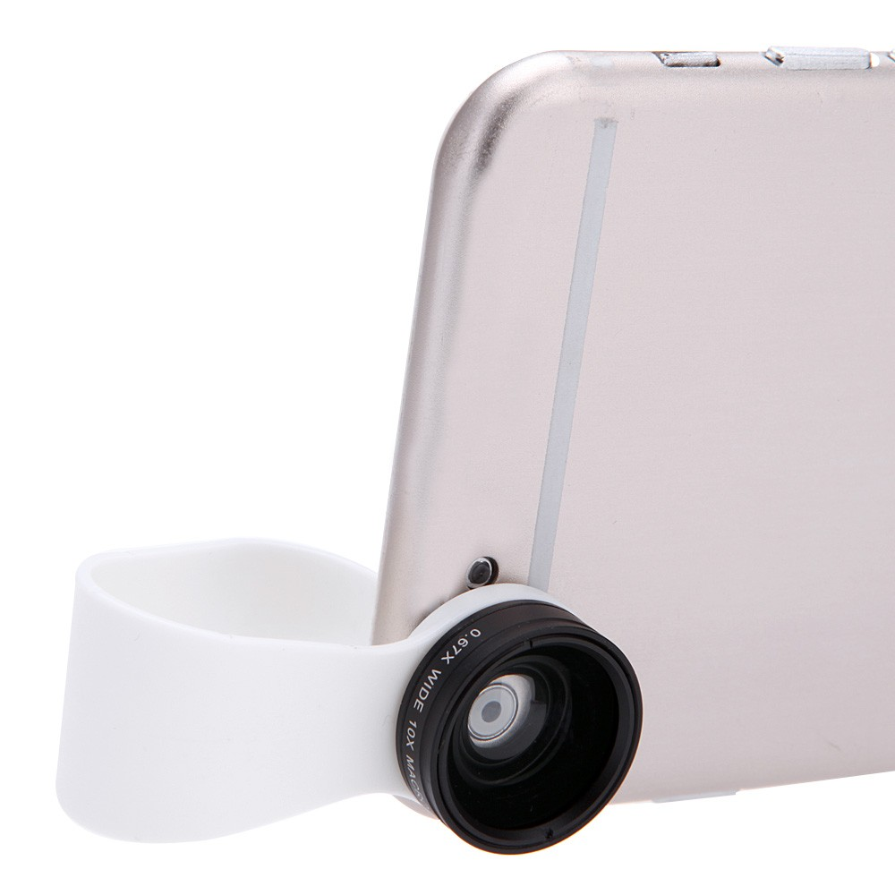 Detachable Clip-on 110° 0.67X Wide Angle 10X Macro Lens for iPhone 6 5 Samsung Xiaomi Sony iPad Mini - US$5.01 Sales Online - Tomtop
