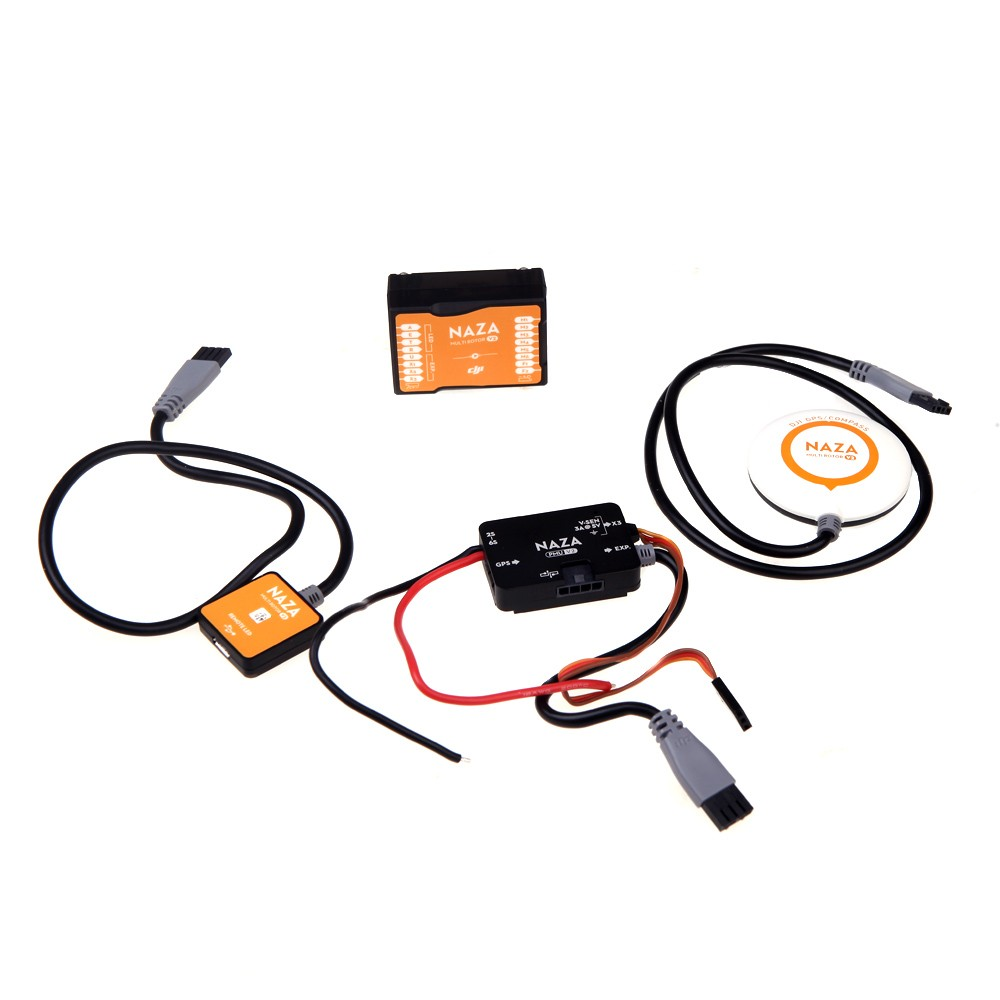 Original Dji Naza V2 Flight Controller W Gps Pmu For Wiring Diagram 1 Compass Module Holder Remote Led Usb Connector Wire 8 Connetor Wires