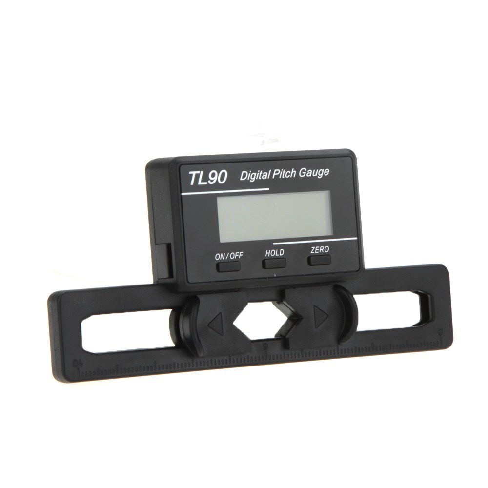 rc helicopter how to use digital pitch gauge
