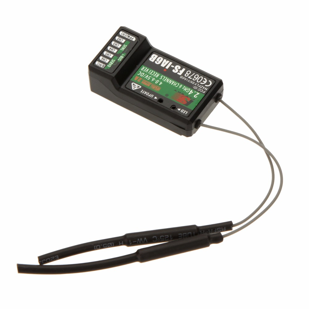 2 4G Flysky FS-iA6B 6 Ch Receiver PPM Output with iBus Port Compatible  Flysky i4 i6 i10 Transmitter