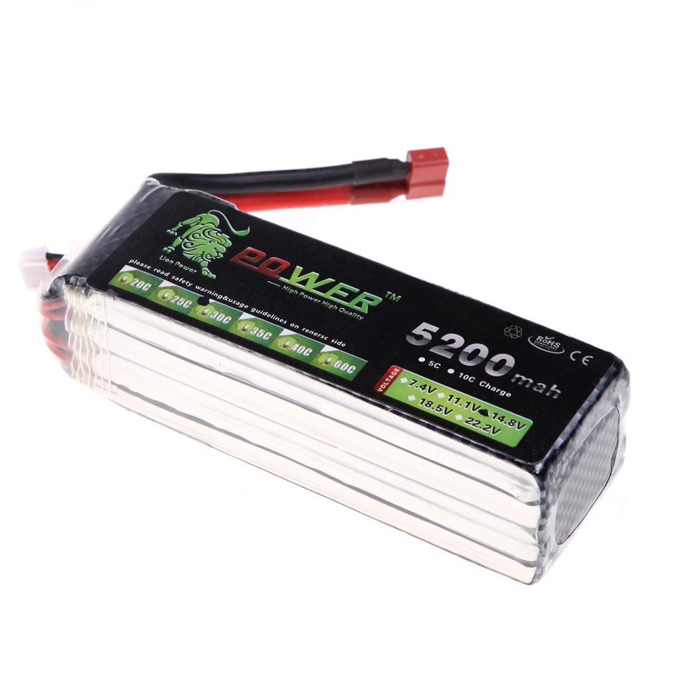 oriainal lion de puissance lipo batterie 14 8v 5200mah 30 c max 45 c t plug pour rc voiture. Black Bedroom Furniture Sets. Home Design Ideas
