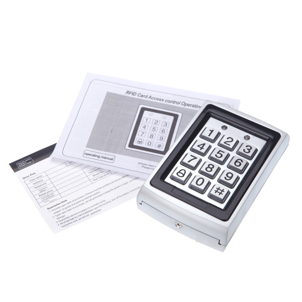 DIY Full Complete RFID Door Access Control Kit Set for Single Door  180kg/396Lbs Electric Strike Magnetic Lock Card PIN Remote Control+Door  Bell+Exit