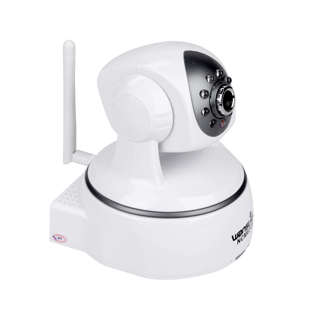 Wansview 1 3MP Indoor Wireless WIFI IP Camera 4mm 720P Support SD Card  Build In MIC 8 IR LED 5 Meter Night Vision Alarm In/Out Pan/Tilt US Plug
