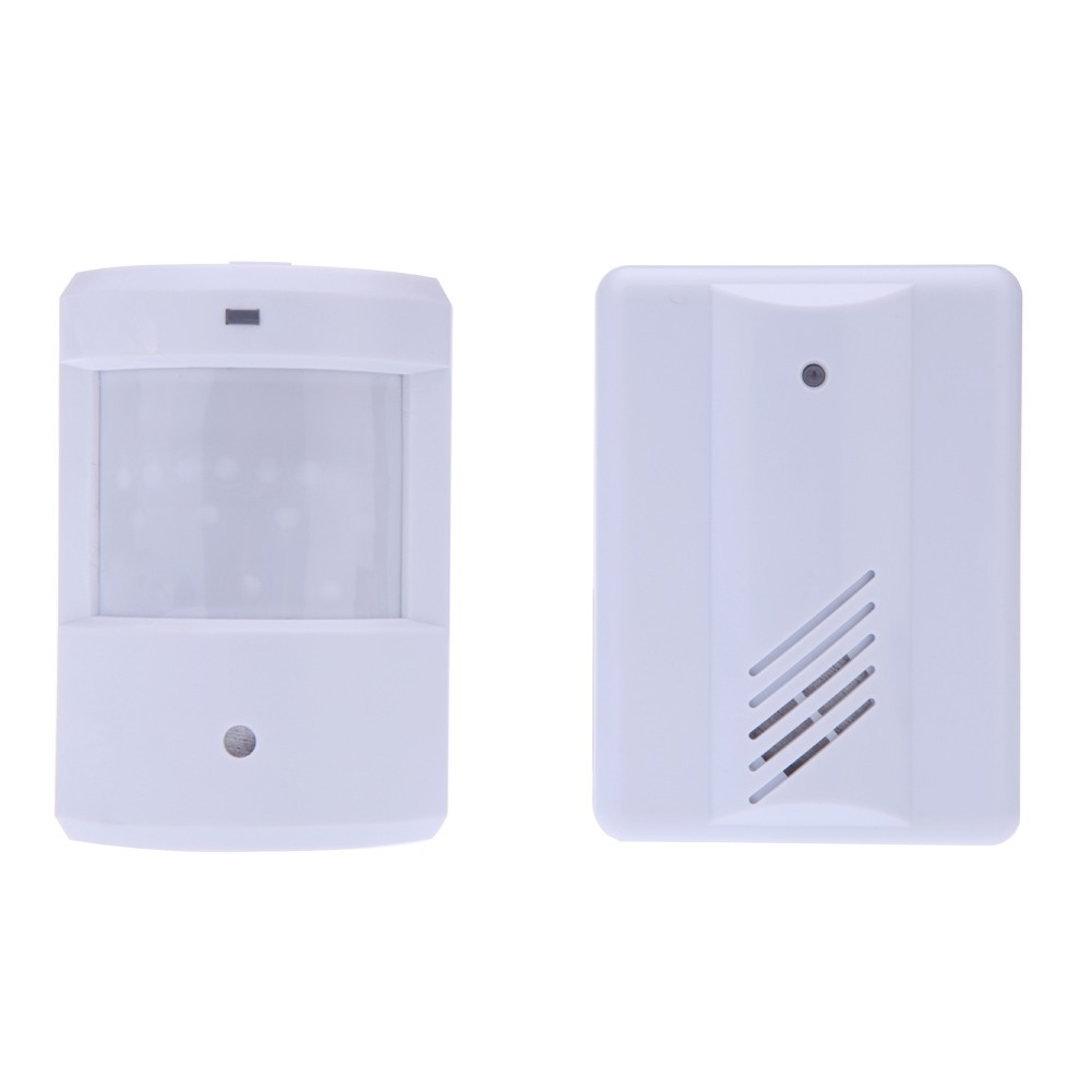 Wireless Infrared Sensor Doorbell Monitor Detector Entry Door Bell Alarm Chime Welcome Device
