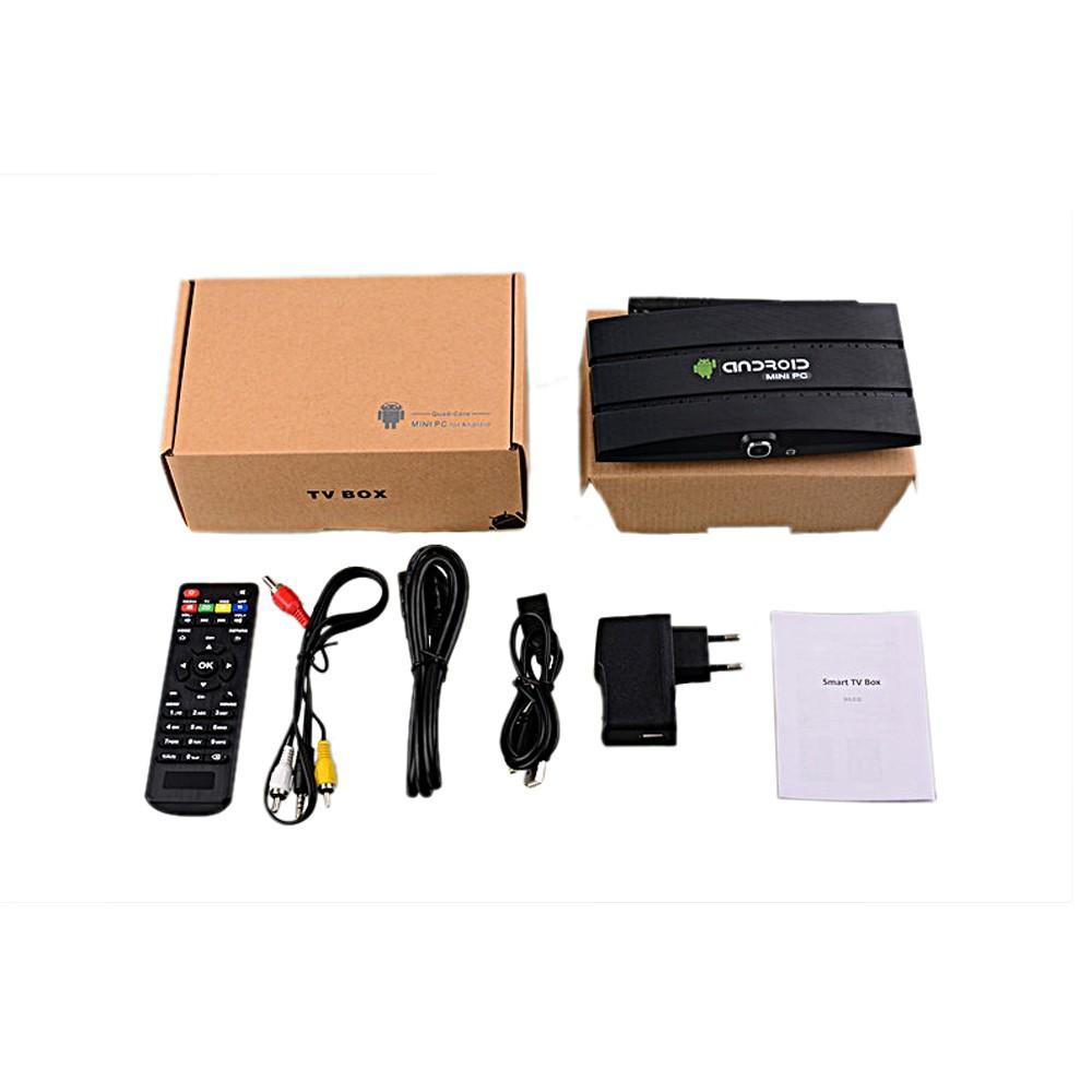 Android 4 4 Smart TV Box Mini PC RK3188 Quad Core 2GB + 8GB with 2 0M  camera MIC HD + RJ45 Wifi Buletooth XBMC