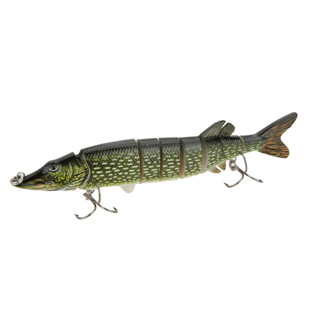 8 20cm 66g lifelike multi jointed 8 segement pike for Muskie fishing lures