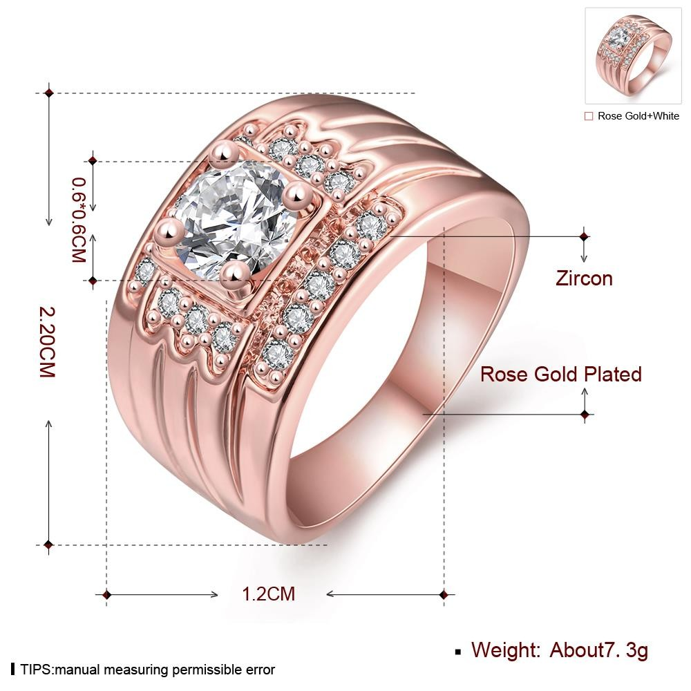 Shining CZ Diamond Brass Ring 18K Gold-electroplated Summer Style ...