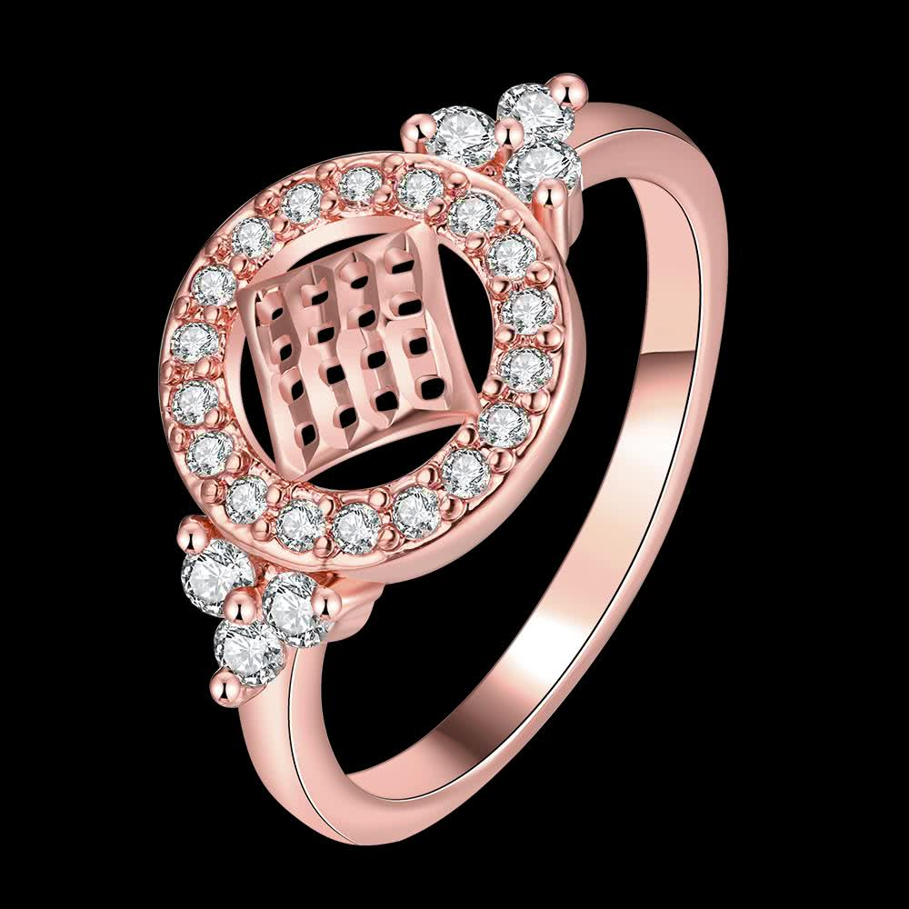 Fashion Nickle Free Antiallergic White Plated Zircon Ring j1460-3 8 ...