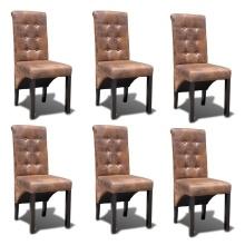 Chaise capitonnée en tissu ou en cuir | Interougehome