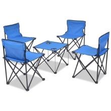 mobilier de camping pliant 4 personnes bleu acier seulement sur. Black Bedroom Furniture Sets. Home Design Ideas