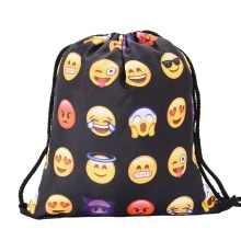 Manufacturer custom drawstring backpack cotton canvas bunches pockets