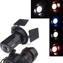 Luz video de YONGNUO YN168 LED Shoot Cámara con 4 metalica de color para Canon Nikon DSLR Cámara
