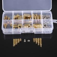 120PCS M2 Male Female Brass Spacers Standoff PCB Board Screw Nut Assortment Set