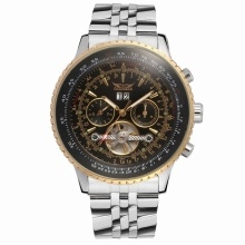 JARAGAR Fashion Automatic Mechanical Watch Stainless Steel Strap Men Wrist Watch