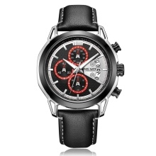 MEGIR 2071 Watch Men Watch Top Luxury Brand Watch Leather Band Quartz Movement Wristwatch Sport Watch Male Watch Fashion and Casual Watch