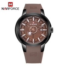NAVIFORCE NF9107 Luxury Brand Watch Quartz Wrist Watch Male Silicone Band Watch Fashion Sport Watch