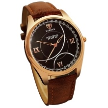 YAZOLE 367 Quartz Watch Wrist Watch PU Leather Fashion Man Watch