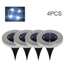 Deals on 4PCS Solar Lawn Light Outdoor 4 Led Ground Lights