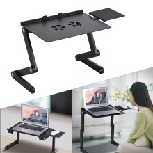 360°Foldable Laptop Notebook Desk Table Stand Tray W//cooling Fan mouse board US