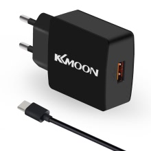 KKmoon K6 Charge Suit Charger Plug Charger Adapter QC3.0 + Micro USB Cable for Mobile Phone Tablet PC